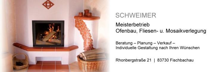 Hans Schweimer Ofenbaumeister, Fliesen und Mosaikverlegung Rhonbergstraße 21 83730 Fischbachau